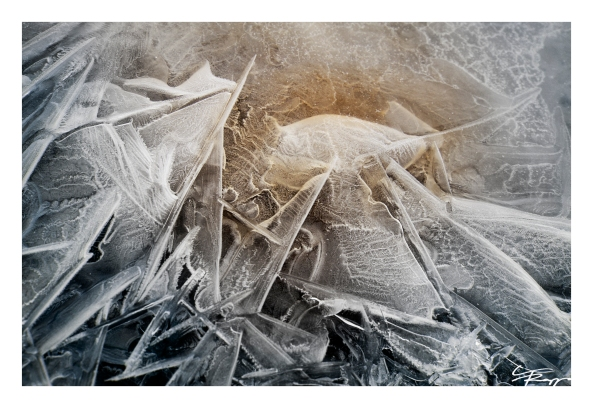 Ice formations.