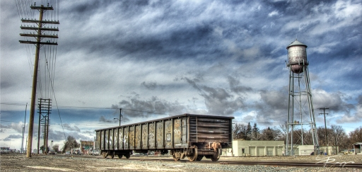 Old rail car in central Idaho.