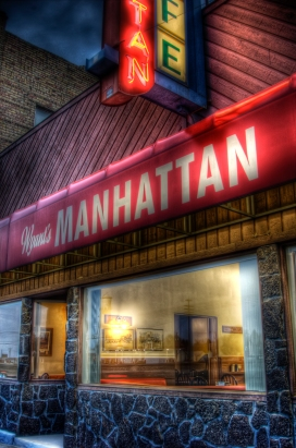 Wyant's Manhattan, a diner in central Idaho.