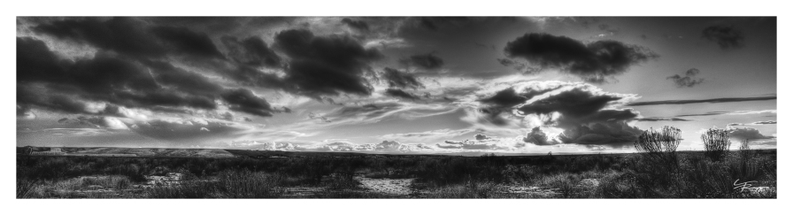 Clouds roll over a sea of sagebrush in central Idaho.