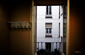 The view from one of the rooms inside Estudio Sampere, a school offering language immersion experiences in Spanish for foreigners.