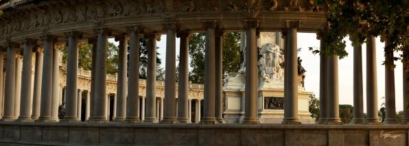 Alfonso XII monument, Parque del Retiro, Madrid, Spain.
