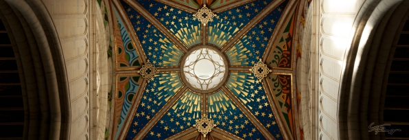 Ceiling of cathedral in Madrid.