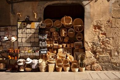 A vendor's wares on display, Spain.