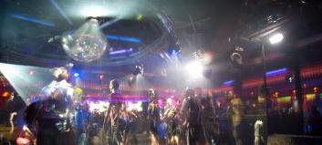 Club scene in Madrid, Spain.