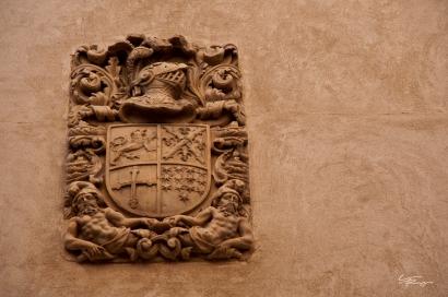Design on a building in Toledo, Spain.