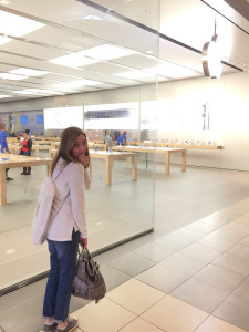 at apple store
